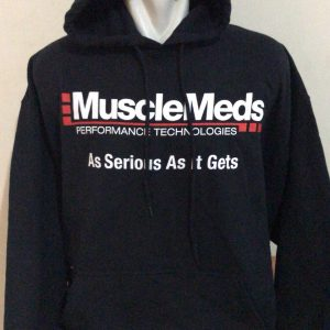 hoodie musclemads hitam